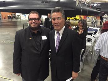 RCYD Comm Director Gregory Hutchins with Congressman Mark Takano