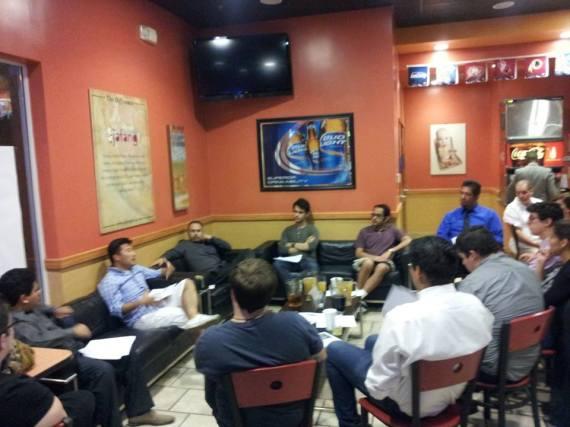 Meeting 2013 at Jafang's Pizza